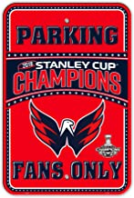 NHL Washington Capitals Plastic Parking Sign, Red & Navy,