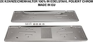 2 Support de plaque d/'immatriculation plaque support brillant chrome pour Audi khp/_2