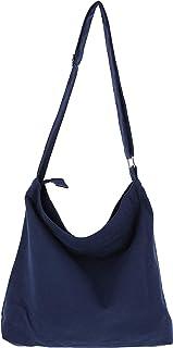 CB STATION Lakelynn Harbor Damen Retro-Hobo-Handtasche aus Segeltuch, lässig, Schultergurt, Einkaufstasche mit Reißverschluss, Marineblau