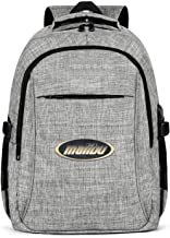 Laptop Backpack for Women & Men Malibu-Boats-decals- Washable & Eco-Friendly with USB Charging Port Retro Weekender Bag-Gray