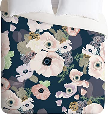 Deny Designs Khristian A Howell Une Femme In Blue Duvet Cover, Queen