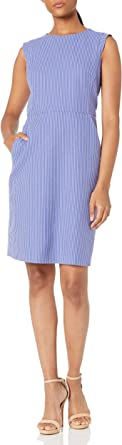 ANNE KLEIN Women's Sheath Dress with Extended Shoulder