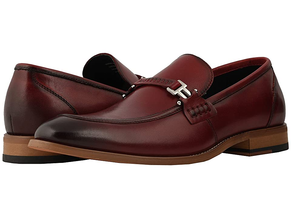 Stacy Adams Duval Slip On Penny Loafer (Cranberry) Men