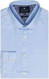 Wayver Blue Twill Check Business Shirt