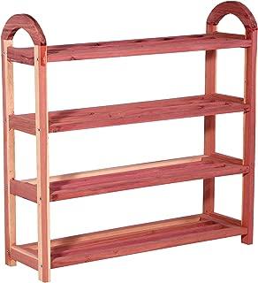 CedarFresh 4-Tier Cedar Shoe Rack, 26.75