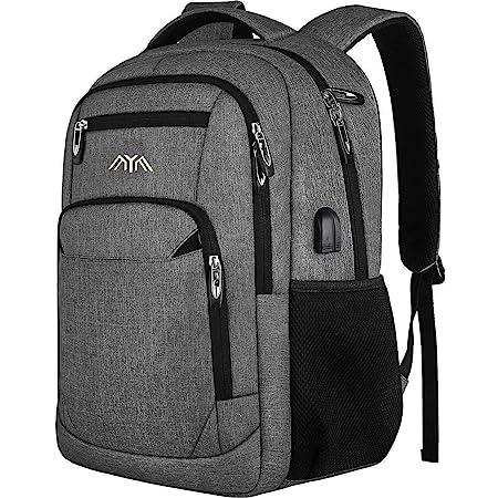 Rucksack Herren Damen Schulrucksack für 17.3 Zoll Laptop Rucksack Arbeit Wasserdicht Business Daypacks Jungen Teenager mit USB Ladeanschluss