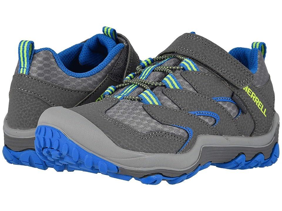 Merrell Kids Chameleon 7 Access Low A/C Waterproof (Little Kid) (Grey/Blue) Boys Shoes