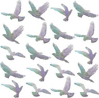 Boao 20 Piezas Pegatinas de Alerta Anticolisión Calcomanías de Ventana de Alerta de Aves Pegatinas de Evitar Personas y Pájaros en Ventana Cristal, 5 Estilos