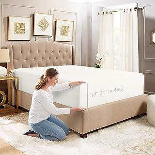 Empyrean Bedding Sábana Bajera Ajustable de Cajón Para Colchón Extra Alto de 45 cm - 53 cm - Sábanas de Microfibra Doble C...