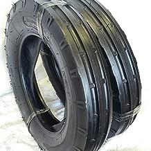 TWO 5.00X15, 500-15, 5.00X15, 5.00-15 RW 3 Rib Tractor Tires 6 PR w/Tubes