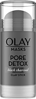 Face Masks by Olay, Clay Charcoal Facial Mask Stick, Pore Detox Black Charcoal, Spa and Beauty Gift for Women 1.7 Oz