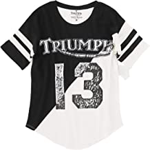Lucky Brand Womens Cold Shoulder Triumph Motorcycle Tee
