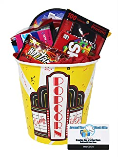 Movie Night Snack Supplies with $15 Dollar Amazon Gift Card to Download Movies or buy DVD's | Family Night Snacks | Date Night Bundle