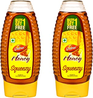 Dabur Honey Squeezy (Twin Pack), 400 g (Pack of 2)