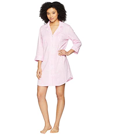 LAUREN Ralph Lauren Essentials Bingham Knits Sleep Shirt (Pink Paisley) Women