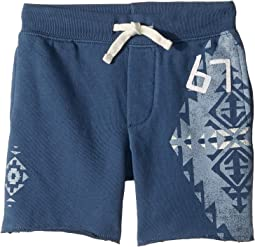 French Terry Graphic Shorts (Little Kids)