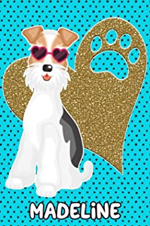 Foxy Life Madeline: College Ruled Composition Book Diary Lined Journal Blue