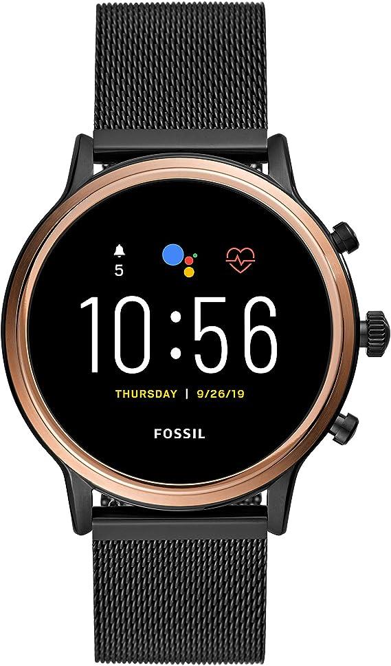 Fossil Gen 5 Julianna Stainless Steel Touchscreen Smartwatch with Speaker