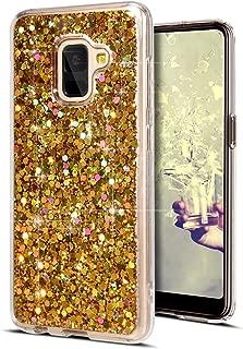 Urhause Coque Compatible avec Huawei Y5 2019 /Étui Cristal Diamant Silicone TPU Housse Paillette Strass Brillante Bling Glitter Crystal Gel Case Fille Femme Placage Protection Bumper Couverture,Rouge