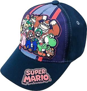 d7a910b84d3e3 Nintendo Super Mario Family Navy Baseball Cap – Size Boys  4-14  6014