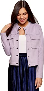 oodji Ultra Women's Faux Suede Jacket with Patch Pockets