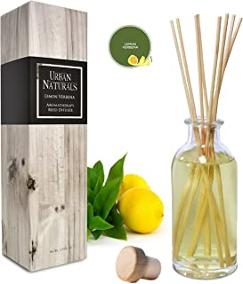 Urban Naturals Lemon Verbena Reed Diffuser Oil Set with Reed Sticks | Tart, Citrus with..