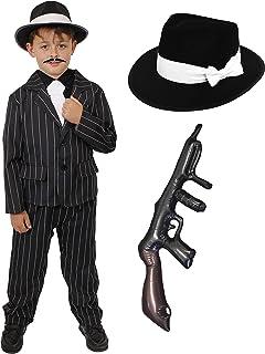Cigar  Spiv Moustache Fake Gangster 1920/'s Fake   Set Stag Fancy dress