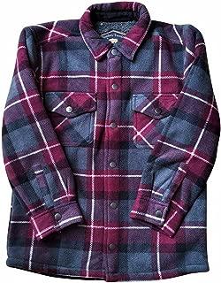 Boys' Super Plush Sherpa-Lined Flannel Shirt Jacket