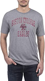 Top of the World NCAA Mens Modern Fit Premium Tri-Blend Short Sleeve Gray Heather Distressed Mascot Arch Tee