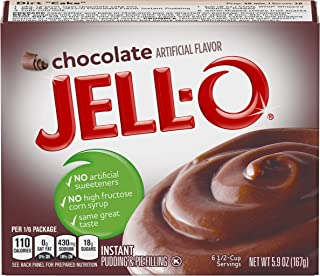 JELL-O Chocolate Instant Pudding & Pie Filling Mix (5.9 oz Box)