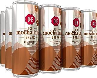 Douwe Egberts IJskoffie Ice Mocha Latte, Koffie met Melk en Zachte Mokka Smaak (12 Blikjes, 100% Arabica Koffie, Ice Coffe...