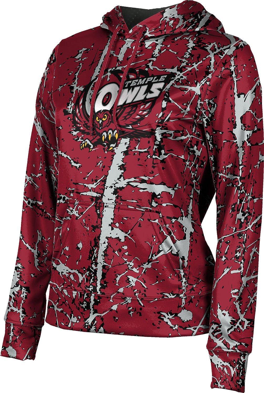 ProSphere Temple University Girls' Pullover Hoodie, School Spirit Sweatshirt (Distressed)