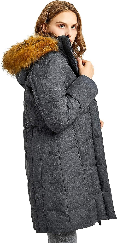 Orolay Women's Winter Coat Down Jacket Hooded Puffer Jacket