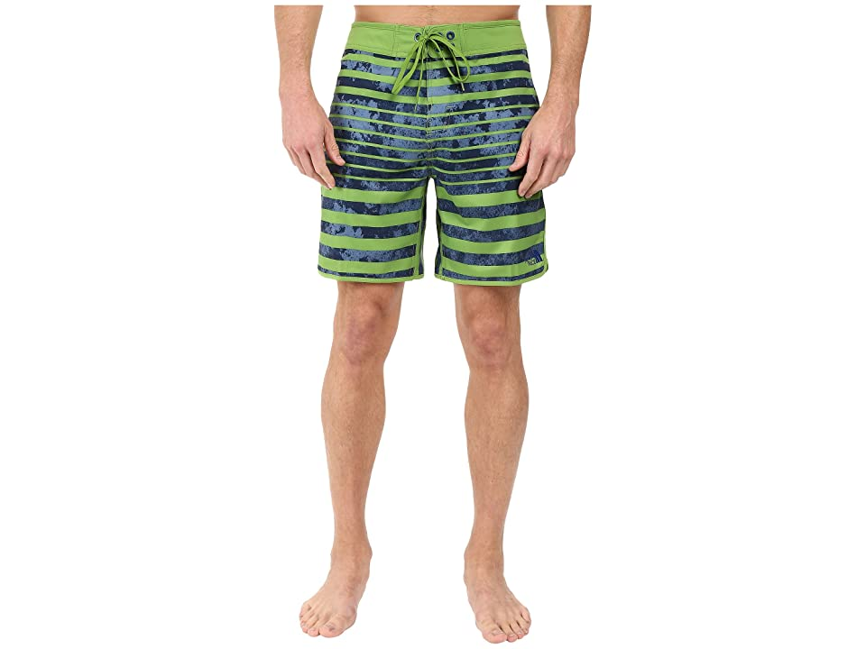 The North Face Whitecap Boardshorts Short (Vibrant Green Moss Stripe (Prior Season)) Men
