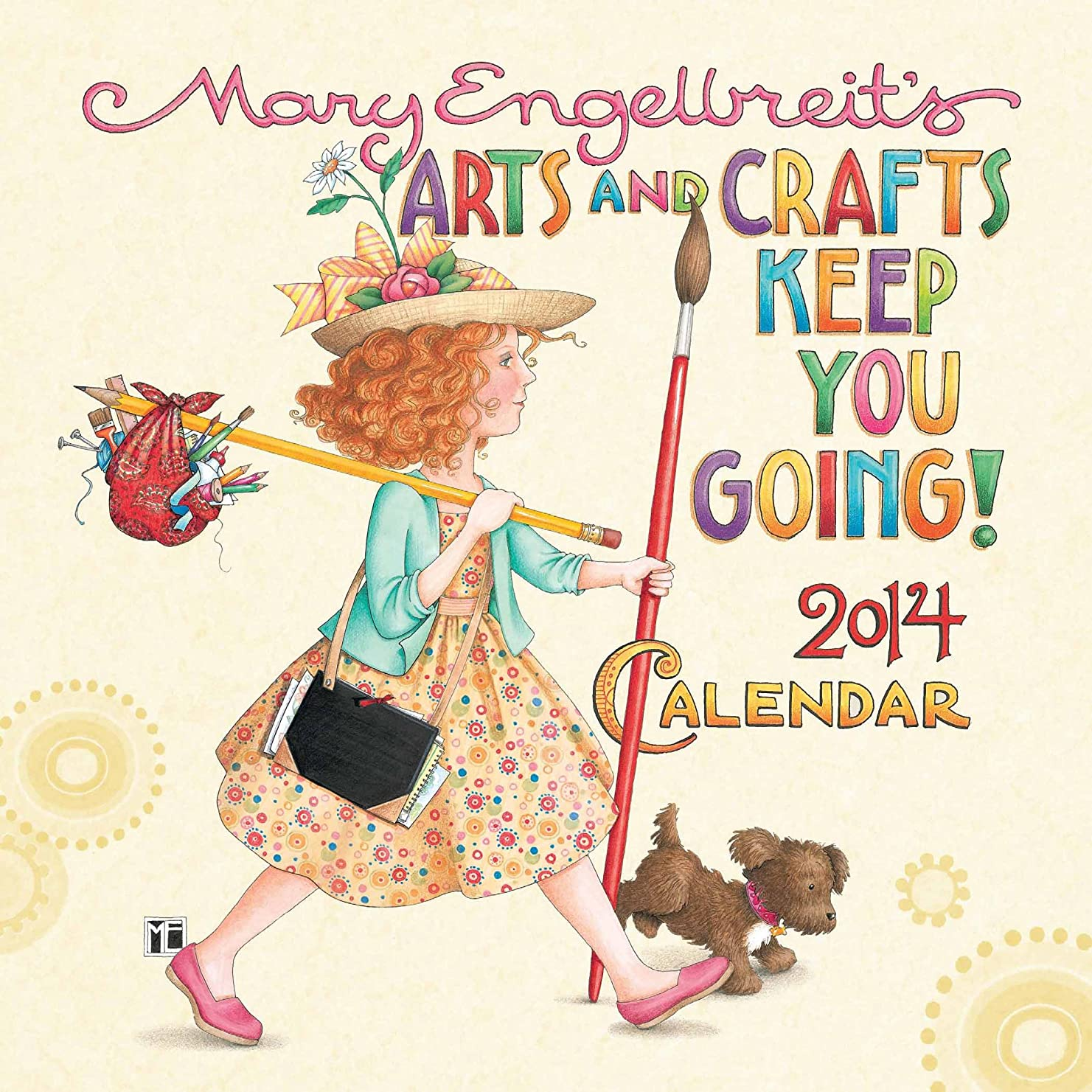 モート抹消ホップMary Engelbreit 2014 Mini Wall Calendar: Arts and Crafts Keep You Going