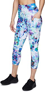 RBX Active Women's Seasonal Printed Capri Length Yoga Leggings
