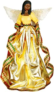 Tiffany (Gold): African American Christmas Tree Topper
