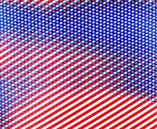 3d Lenticular Sheets --- Animated Stars of the American Flag