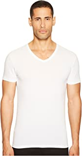 Emporio Armani Men's Stretch Cotton V-Neck T-Shirt, White, Large