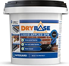 Drybase Liquid Damp Proof Membrane (5L) - Liquid DPM Damp Proofing Paint (Black)