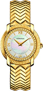 Women's DV-25 Swiss-Quartz Watch with Stainless-Steel Strap, Gold (Model: VAM040016)