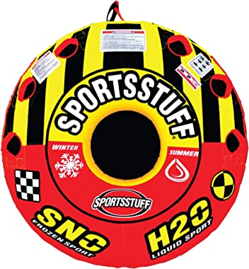 SportsStuff Super Crossover Snow Sled, Red/Yellow, 56-Inch
