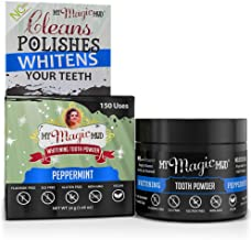 ماي ماجيك ماد - بودرة تبييض الأسنان وتلميع وتفتيح البشرة والفحم والنعناع و30 مل (150 استخدام).