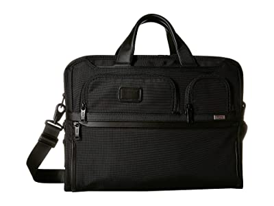 Tumi Alpha 3 Compact Large Screen Laptop Brief (Black) Luggage