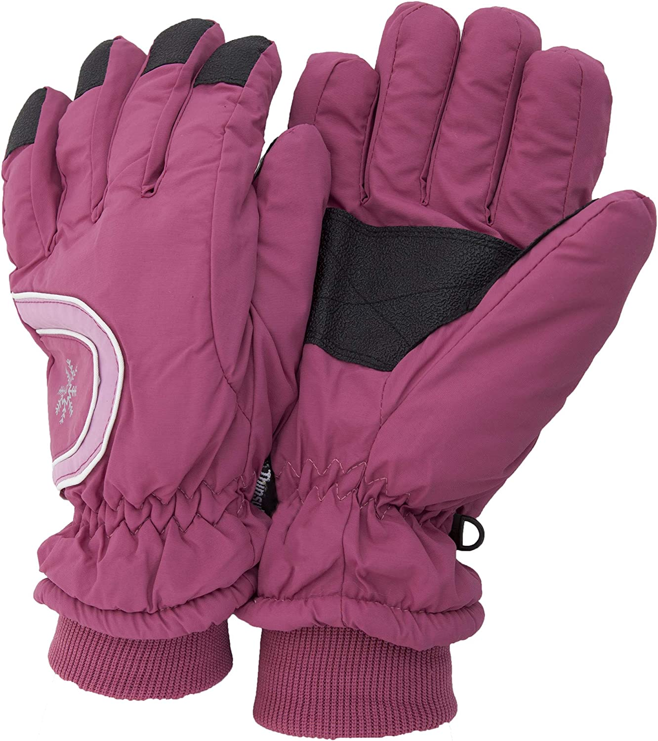 Ladies/Womens Extra Warm Thermal Padded Winter/Ski Gloves With Grip (One Size Fits All) (Pink)