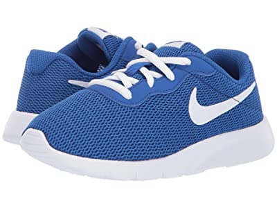 Nike Kids Tanjun Wide (Little Kid) (Game Royal/White) Boys Shoes