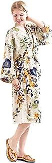 Robe&Wedding Women Long Cotton Floral Fashion Sexy Bride Robe
