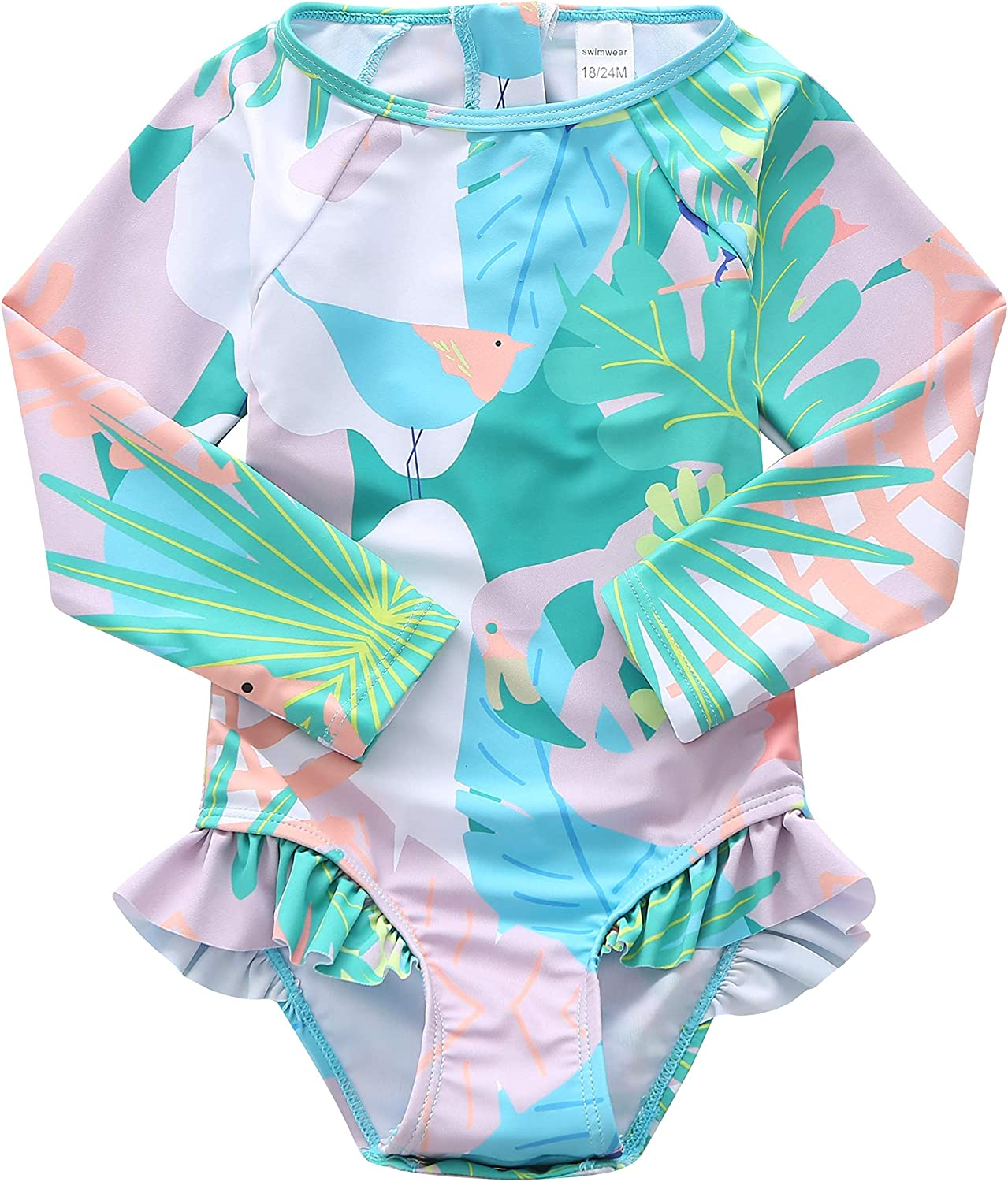 Baby Girls One Piece Swimsuits Long Swim Low price Sleeve Rash Guard Outlet sale feature Shirt