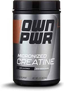 OWN PWR Micronized Creatine Monohydrate Powder, 5G per Serving, Unflavored, 2.2 Pound Value Size (200 servings)