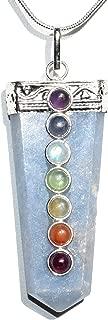 CHARGED 7 Chakra Peruvian Angelite Crystal Perfect Pendant + 20